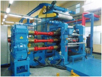 Five Roller Rubber Sheet Calendering Press Machine For Transparent / Colorful PVC Sheet