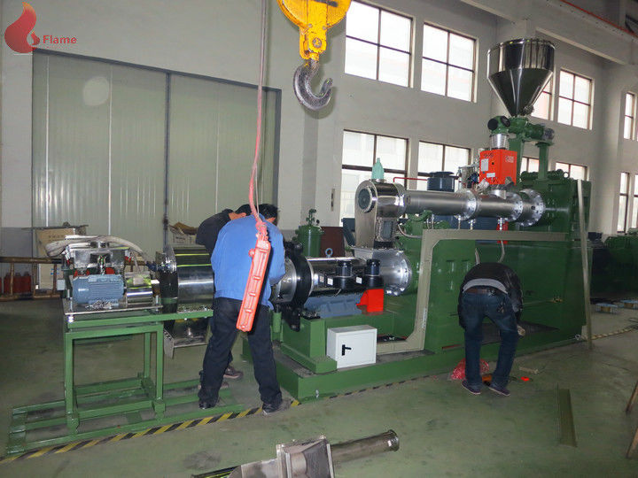 185KW PVC Plastic Pellet Machine , 0.015mm Two Stage Pelletizer Machines